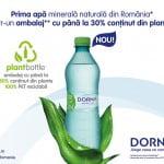 Sticlele de apă Dorna au un ambalaj inovator, 100% reciclabil
