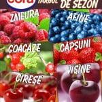7 tone de fructe de sezon, vândute de Cora România în 3 zile