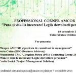 AMCOR organizează o nouă întâlnire Professional Corner