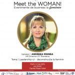 Andreea Mihnea (EY România), speakerul Meet the WOMAN! din 5 mai
