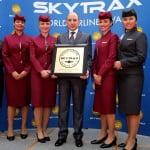 """Qatar Airways, desemnată """"Linia aeriană a anului"""""""