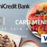 UniCredit Bank a lansat un card pentru acordarea bonurilor de masă