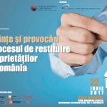 """Evenimentul """"Tendinţe şi provocări în procesul de restituire a proprietăţilor din România"""" are loc pe 22 iunie"""