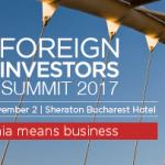 Foreign Investors Summit are loc în perioada 31 octombrie-2 noiembrie