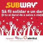 SUBWAY lansează o campanie națională de donare de sânge